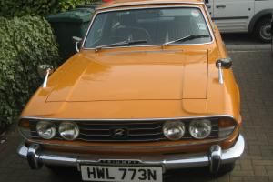 1975 TRIUMPH STAG 3.0 V8 MANUAL OVERDRIVE SAFRON YELLOW.  Photo