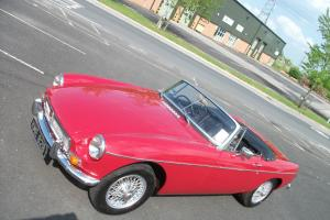 MGB Roadster, 1964, Tartan Red, Heritage Shell, Wire Wheels, Chrome Bumpers Photo