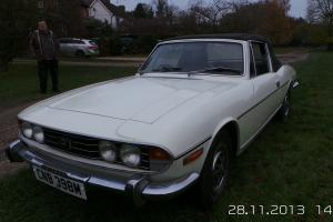 White Triumph Stag auto coupe Photo