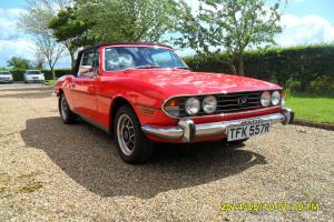 Triumph Stag 1977 R reg original Mk11 Triumph V8 engine, red, black hood Photo