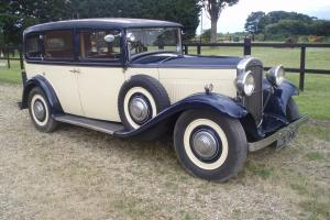 1932 HUMBER PULLMAN LAUNDAULETTE WITH FOLD DOWN ROOF, A VERY NICE WEDDING CAR