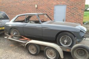 1967 MGB GT unfinished Clean project came out of the paint shop yesterday