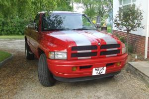 dodge ram 1997 shortbed hotrod/classic //magnum v8 private ram plate inculded