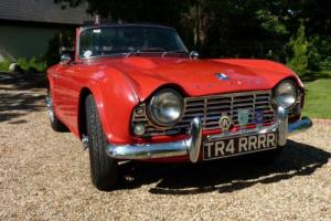 Exceptional 1962 Triumph TR4 with original low mileage, Reduced