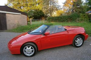 1990 ' H ' LOTUS ELAN 1.6 SE TURBO M100 S1 CONVERTIBLE IN RED/2 TONE LEATHER