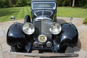 1937 BENTLEY 4 1/4 LITRE DERBY HOOPER ALL ALUMINIUM SPORTS SALOON px