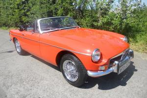 1974 MGB Roadster Immaculate condition Blaze Orange Genuin only 16,264 miles FSH  Photo