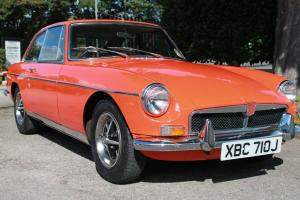 1971 MGB GT BLAZE ORANGE MANUAL OVERDRIVE