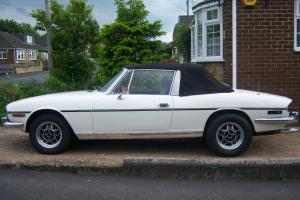 White Triumph Stag 1972 Photo