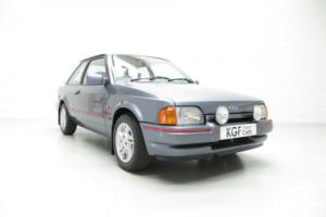 A Collectors Ford Escort XR3i with Only 35,993 Miles and Two Owners from New