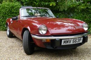 Triumph Spitfire 1500 1976 hard top and overdrive very low milage