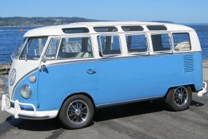 1967 VW 21 Window Deluxe Bus Walk Thru, Original Interior, VW Birth Certificate