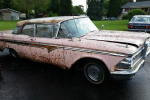 1959 EDSEL 2 DOOR V8 AUTOMATIC  FORD COMPLETE NEEDS RESTORED BARN FIND
