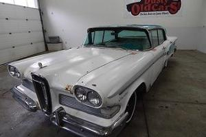 1958 White RunsDrives Body Fair InteriorGood Project Car!