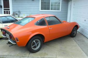 vintage 1972 orange OPEL GT sports car / baby corvette dino ferrari kit replica