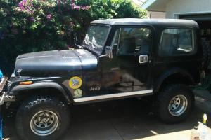 1984 Jeep CJ7 with many offroad performance accessories