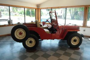 1951 Jeep Willys CJ-3A  2.2L runs and drives quite nicely