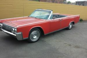 Very original 1964 lincoln convertible rare red and original running driving car
