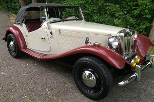 1952 MG T-SERIES TD TAN CONVERTIBLE 4-SPEED DUAL EXHAUST KIT CAR 1987 LOW MILES