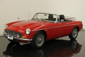 1969 MG MGC Roadster 2912cc 6 Cly 4 Spd with OD Leather Wire Wheels 2 Tops Photo