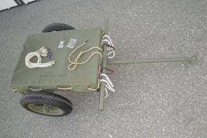 1945 JOHN WOOD M3A4 AMMUNITION HAND CART, RESTORED WITH ACCESSORIES