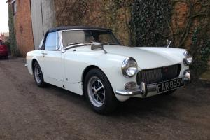 1972 MG MIDGET CONVERTIBLE 2 OWNERS ONLY 30K FULLY RESTORED WHITE VGC PX POSS  Photo