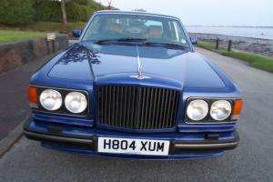 1990 BENTLEY TURBO R RED LABEL FUEL INJECTION ACTIVE RIDE MODEL MOROCCAN BLUE Photo