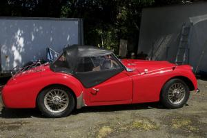 1958 TRIUMPH TR3A RED Photo