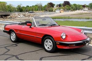 "1988 ALFA ROMEO SPIDER ""21,000 MILE TIME CAPSULE, STUNNING CAR, NO STORIES!!!"""