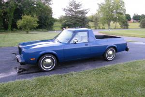 1985 Chrysler Fifth Ave Ute Conversion ElCamino, Ranchero Wayfarer