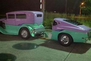 (1931 FORD 2dr sedan and Custom Trailer Combo) Straight out of the 80's AWESOME!