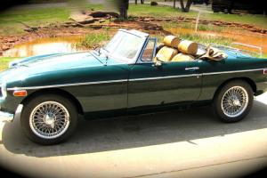 RESTORED 1974 MG - only the first few 1974's produced with chrome bumpers Photo