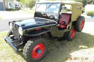 1948 WILLYS CJ2A , AMERICAN BLACK, HARVARD RED TRIM