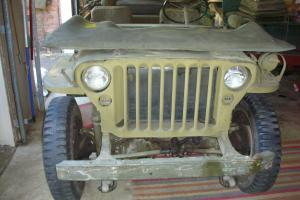 WILLYS MB 1945 JEEP MILITARY VEHICLE ORIGINAL  9,600 MILES
