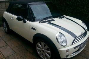 Mint Mini cooper convertable auto in cream