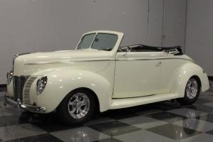 HIGH-LINE RESTO, STEEL BODY SOAKED IN AMAZING COOL VANILLA PAINT, BUILT 350 V8!!
