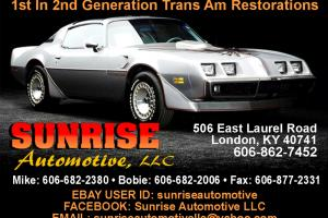 1978 PONTIAC TRANS AM NUMBERS MATCHING 'Z' CODE ENGINE AND TRANSMISSION