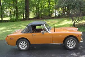1974 mg midget bronze-yellow 2dr conv. 34,925 miles
