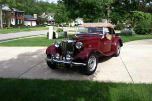 1953 MG TD - Maroon Exterior - Tan Interior - Matching Numbers - LOW milage