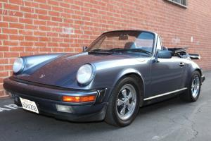 1989 Porsche 911 baltic blue Carrera cabriolet 2 owner calif car with g50