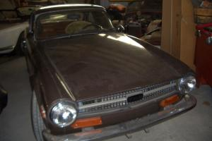 1973 TR6; Brown with Brown Hardtop, AC, Tan Interior; Rack; SURVIVOR CAR!! Photo