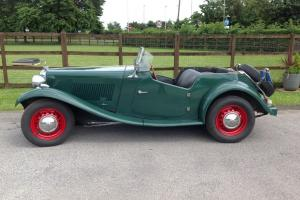 1951 vintage MGTD sports car LHD - Taxed and UK registered.