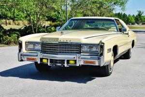 Simply stunning 1978 Cadillac Eldorado Biarritz Triple Yellow like new 17ks mint