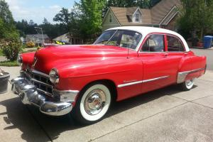 1949 Red and White Cadillac Series 62 4 Doors