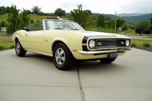 1968 CHEVROLET CAMARO CONV . 1 OWNER. ORIGINAL TITLE. 78K MILES. MUST SEE.