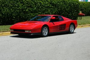 1986 FERRARI TESTAROSSA SINGLE FLYING MIRROR NEW BELTS AND CLUTCH ROSSO CORSA