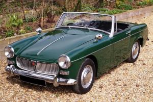 1964 MG MIDGET MK2 - BRITISH RACING GREEN - LEATHER SEATS, MOHAIR HOOD, NEW MOT