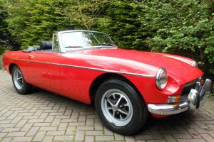 MGB Roadster 1972 - Tartan Red - Fully Restored.  Photo