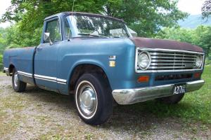 "1974 INTERNATIONAL HARVESTER FARM TRUCK 8"" BED, FACTORY AIR LOW MILES RAT ROD"