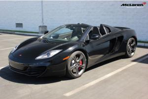 2013 McLaren MP4-12C Spider, Carbon Black/Carbon Black, Carbon Fiber Loaded